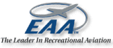 "EAA logo ""The Leader in Recreational Aviation"""
