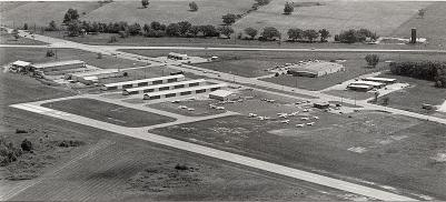 The early airport with paved runways.