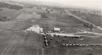 The Howell Airport before the paved runway was made.