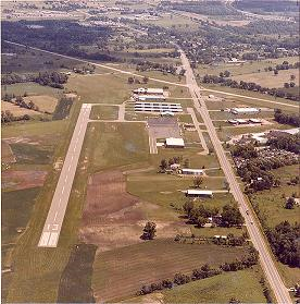 An alternate view of the airport in 1981