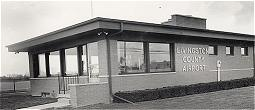 The Livingston County Airport terminal building when it was new.