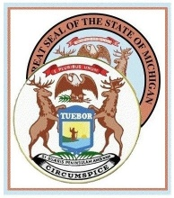Michigan's Great Seal and Coat of Amrs