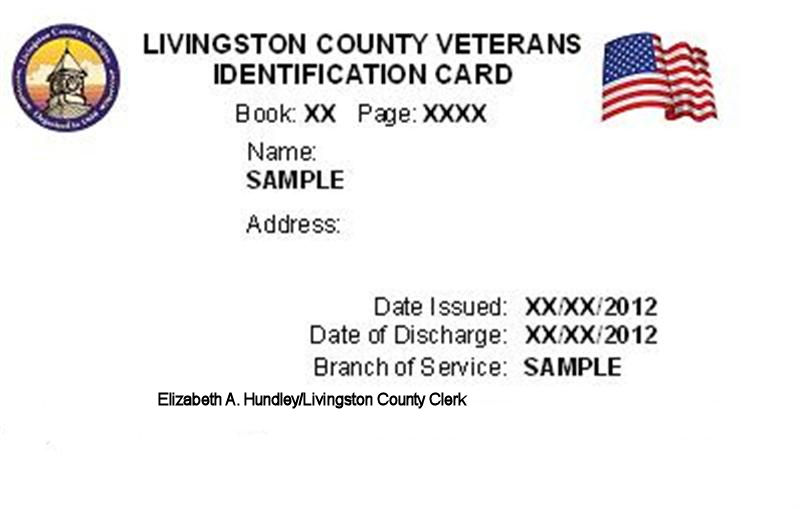 Veteran's ID card sample
