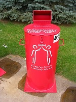 Big Red Barrel medication disposal photo