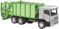 Trash Hauler (garbage truck) graphic