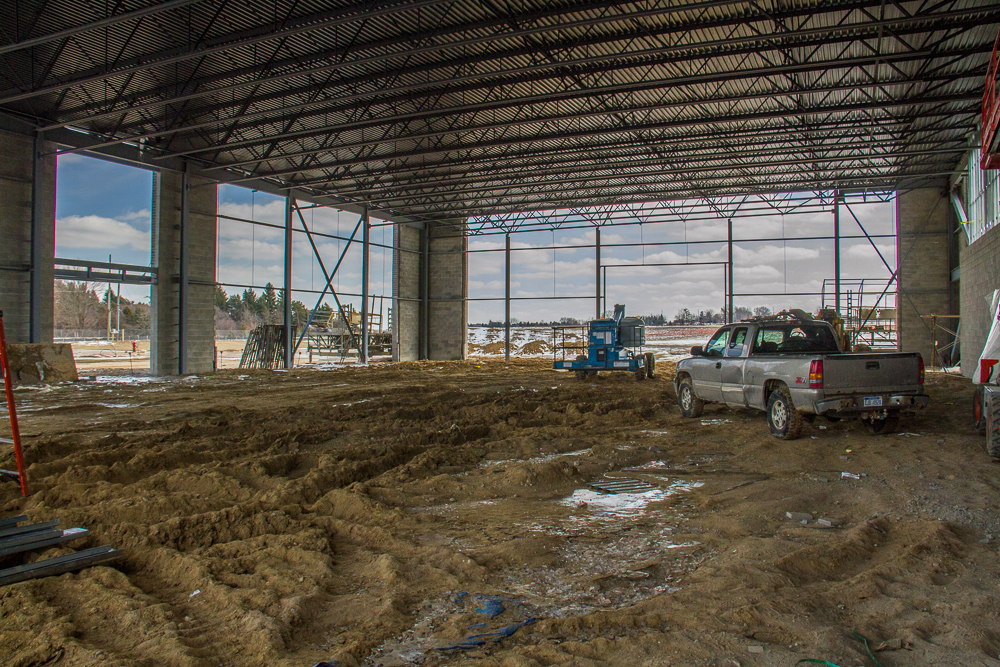 EMS headquarters construction from the inside