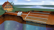 graphic showing drainfield