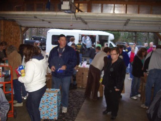 Unloading the Donations