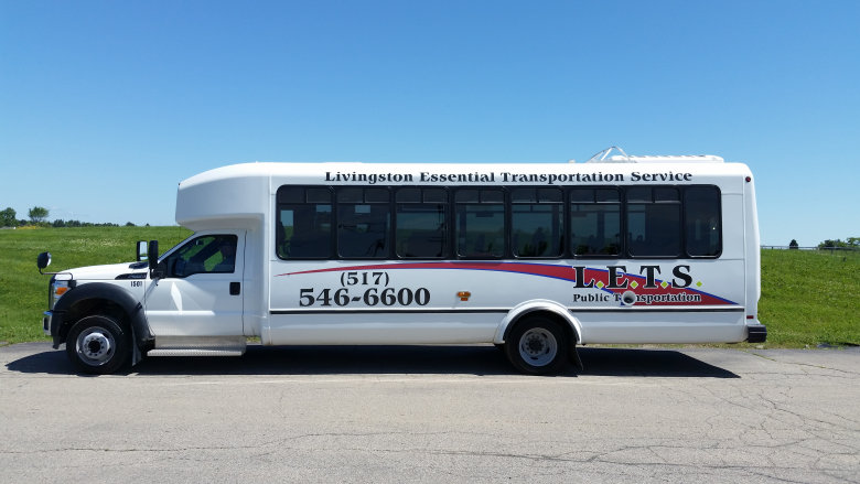 LETS 32 foot bus, accommodates 32 passengers