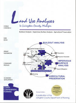 Land Use Analysis in Livingston County Booklet cover