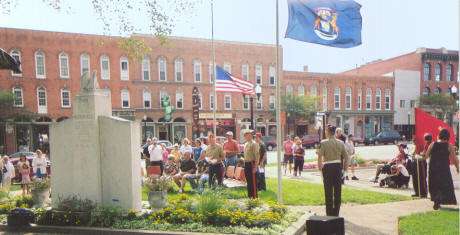Ceremony in Front of Livingston County's Historic Courthouse